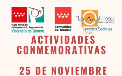 Actividades 25 Noviembre, día internacional para la eliminación de la violencia contra las mujeres.