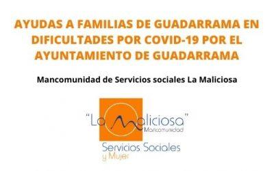 AYUDAS A FAMILIAS DE GUADARRAMA EN DIFICULTADES POR COVID-19
