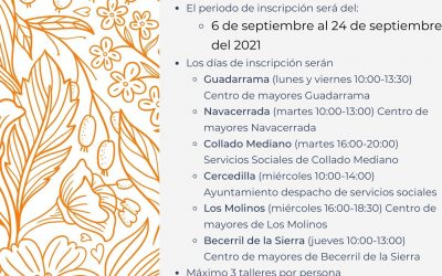 TALLERES PARA MAYORES 2021/2022